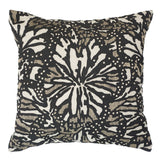 Butterfly Black Cushion