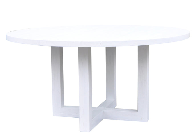 Conrad Round Dining Table White