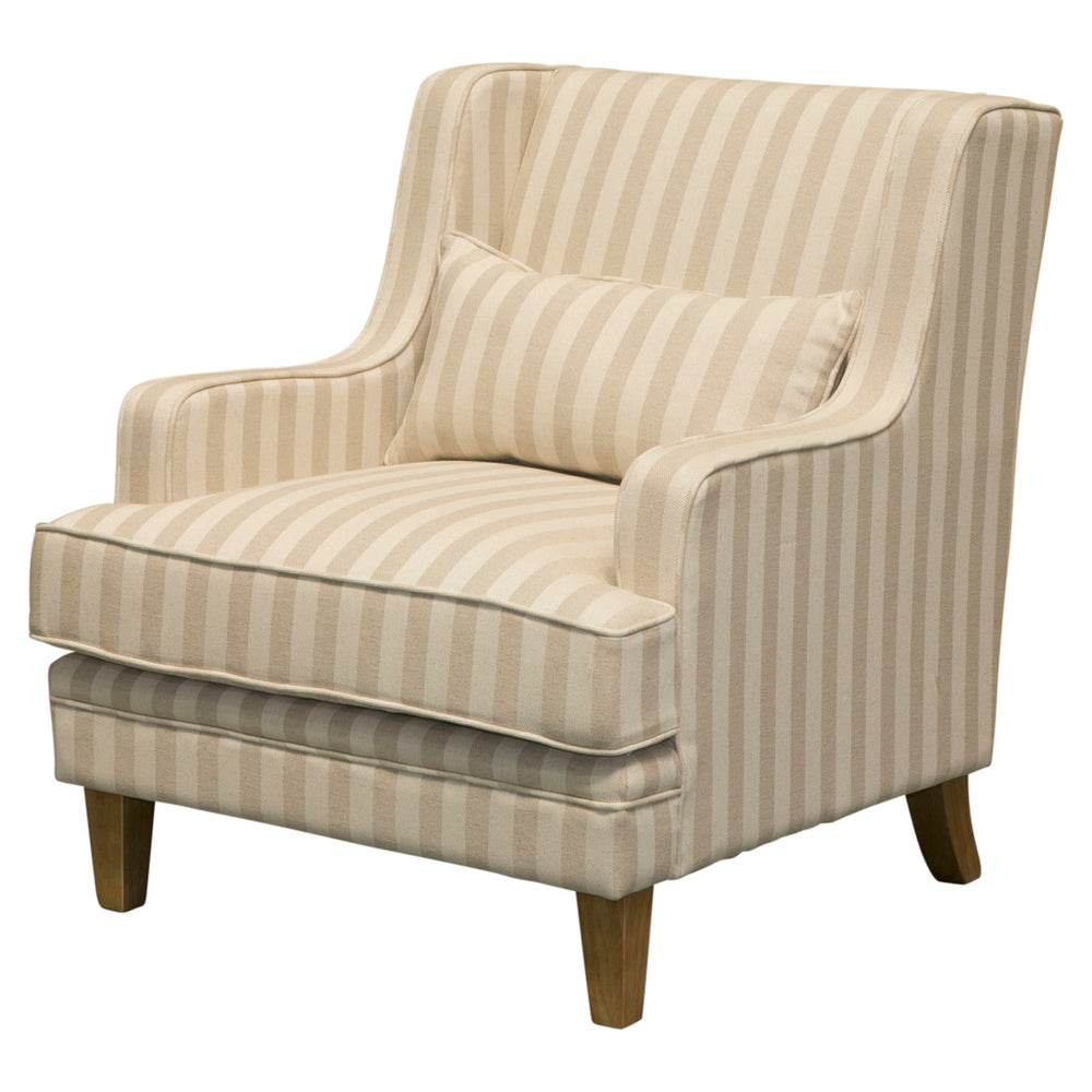 Natural Stripe Armchair