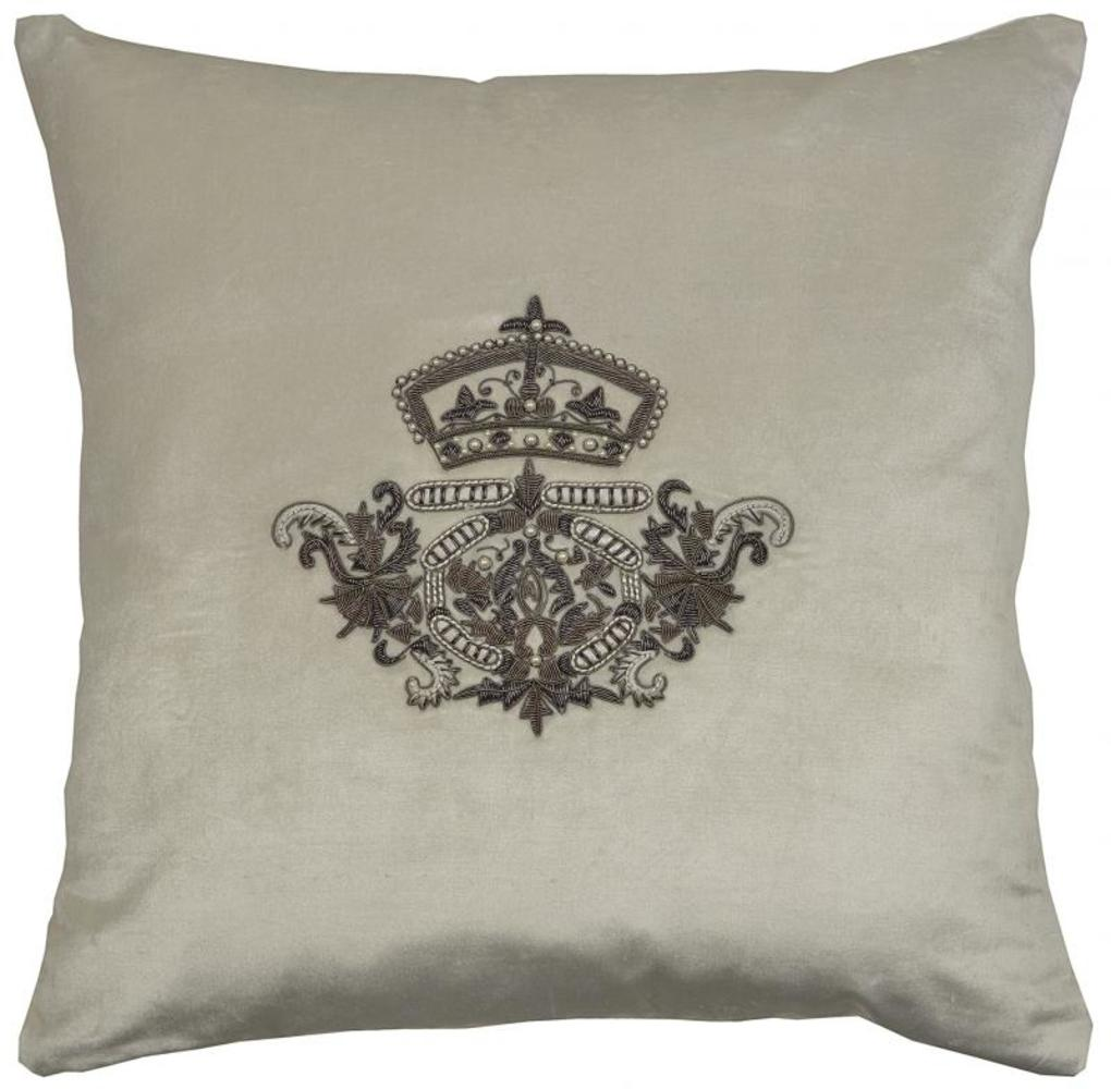 Crest Crown and Pearls Cushion Vanilla