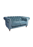 Manhattan 2 Seat Chesterfield Azure Velvet