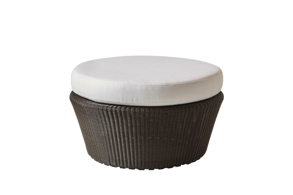 Kingston Outdoor Large Footstool/Ottoman Mocca with Cushion Options