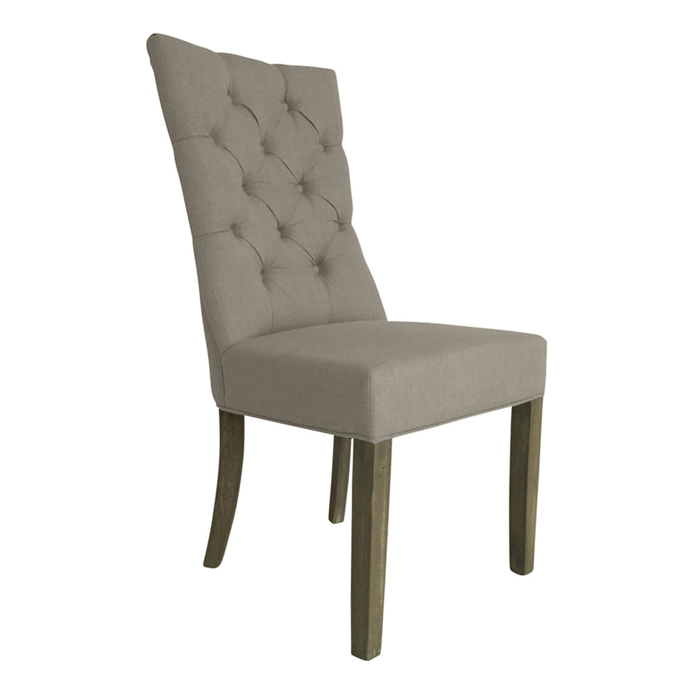 Linen Dining Chair Beige