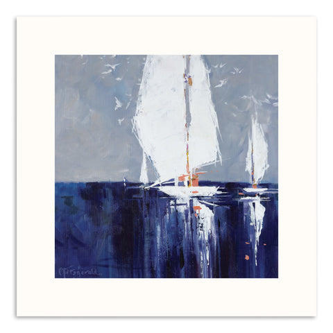 M Jetty Giclee Print with Frame