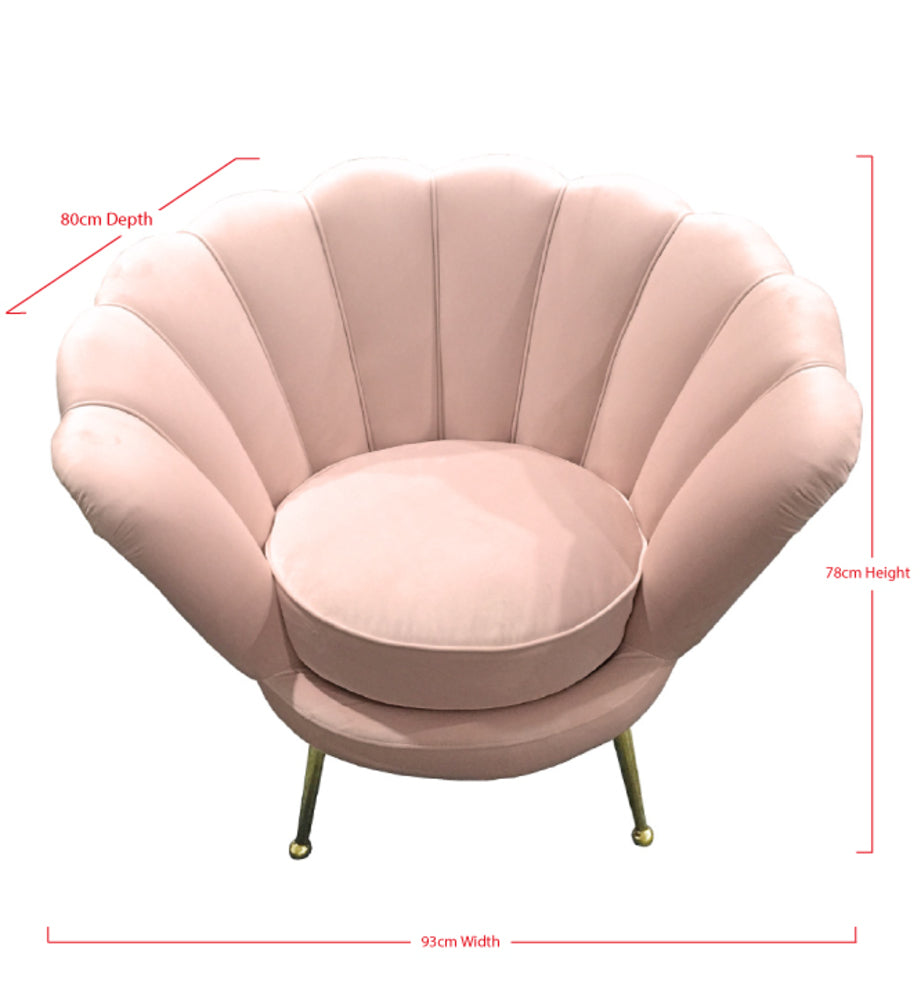 Shell Arm Chair Rose Water
