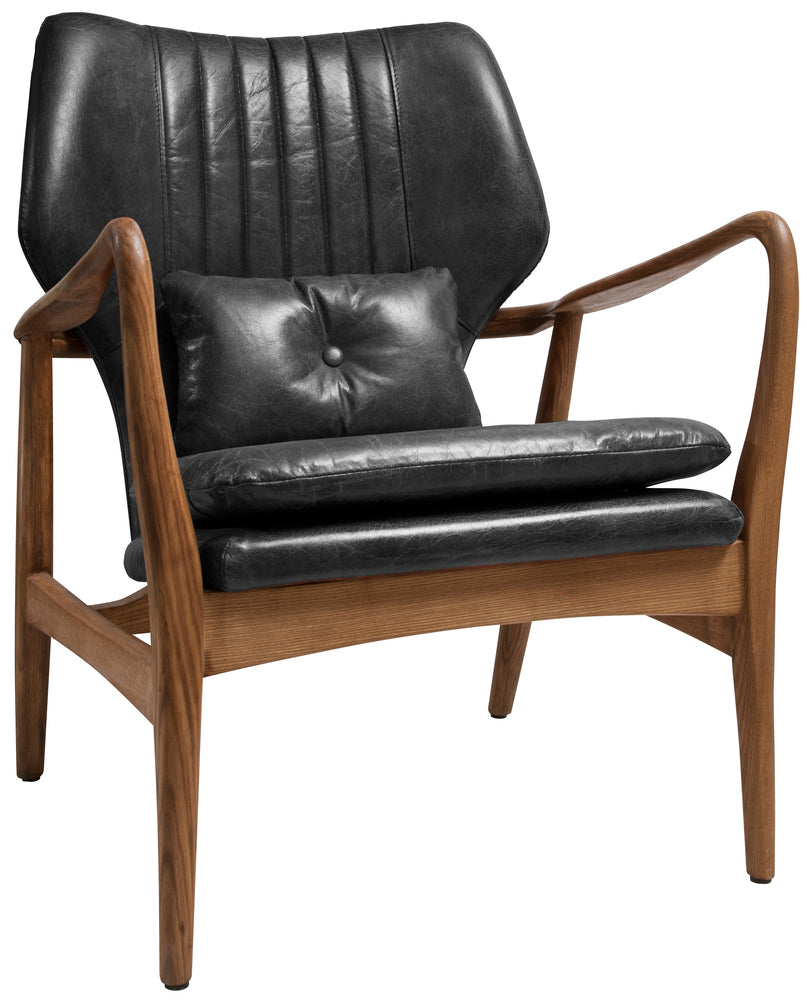 Whittam Armchair Ebony Leather