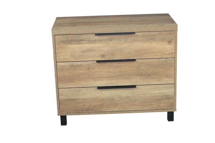 Atlanta 3 Drawer Chest Natural