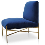 Ash Lounge Chair Blue Velvet