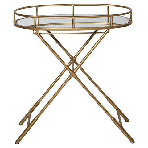 Oval Tray Table Gold