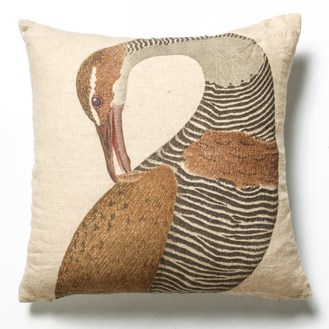 Riverbird Linen Cushion