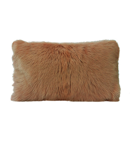 Goat Fur Cushion Chestnut