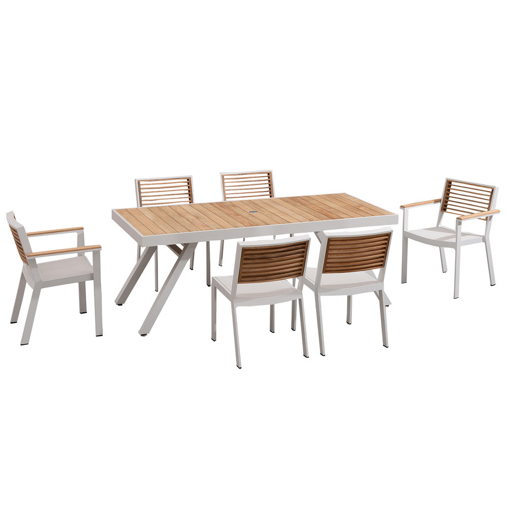 Bocage 7 Piece Dining Setting White