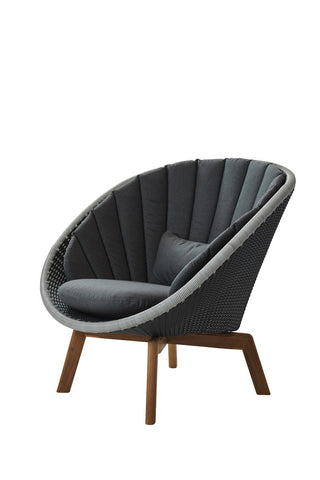 Peacock Dining Chair Grey with Cushion Options