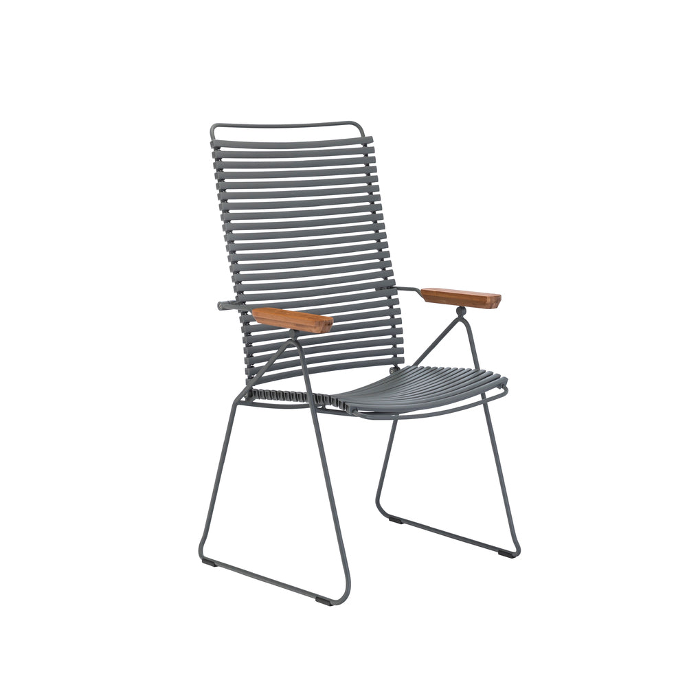 Click Position Outdoor Dining Chair Dark Grey