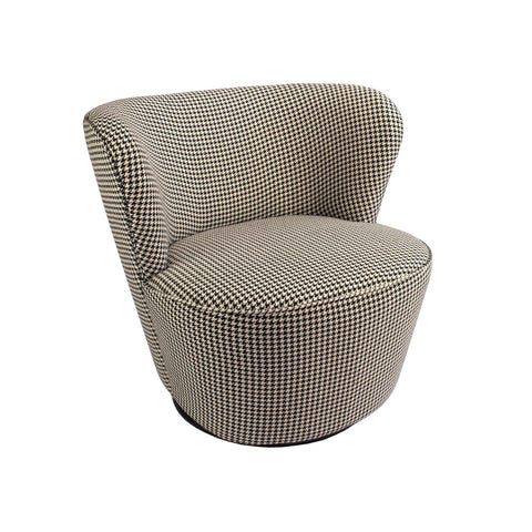 Maxwell Swivel Chair Houndstooth
