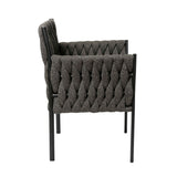 Leonard Outdoor Dining Chair Charcoal