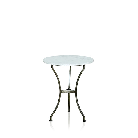 Martini Wrought Iron Occasional Table With Marble Top
