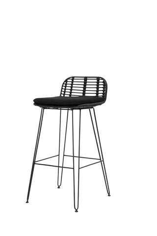 Alvaro Bar Stool Black
