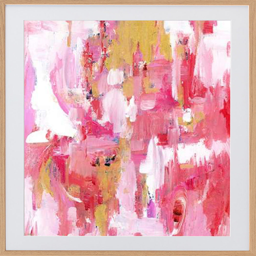 Abstract Dream Pink Gold Framed Print