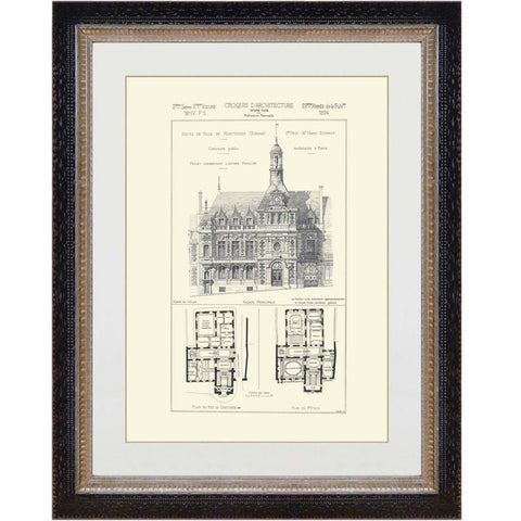 French Architectural Print 13