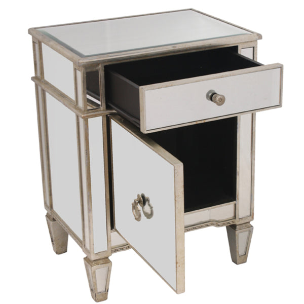 Antique Mirror Bedside With Cupboard Interiors Online