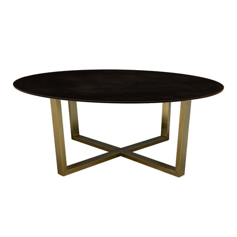 Ayton Antique Brass Coffee Table with Granite Top