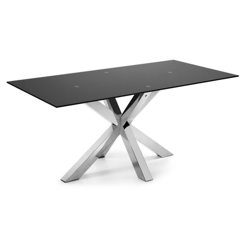 Masa Dining Table Stainless Steel Legs with Kalos White Ceramic Top