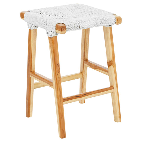 Bali Hai Rattan Bar Stool White