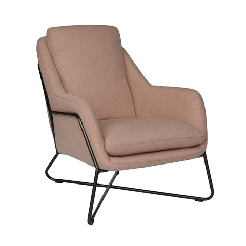 Tribeca Armchair Clay with Bronze Frame