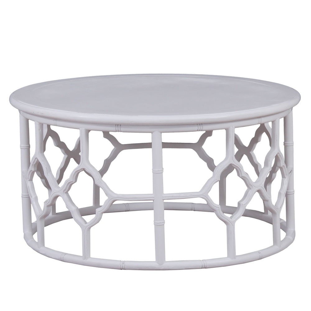 Trellis Coffee Table White