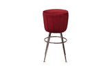 Equator Stool Crimson Velvet