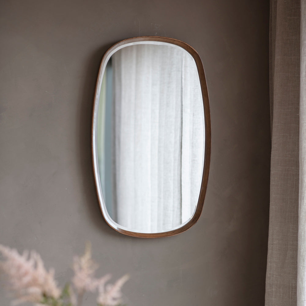 Rise Walnut Mirror