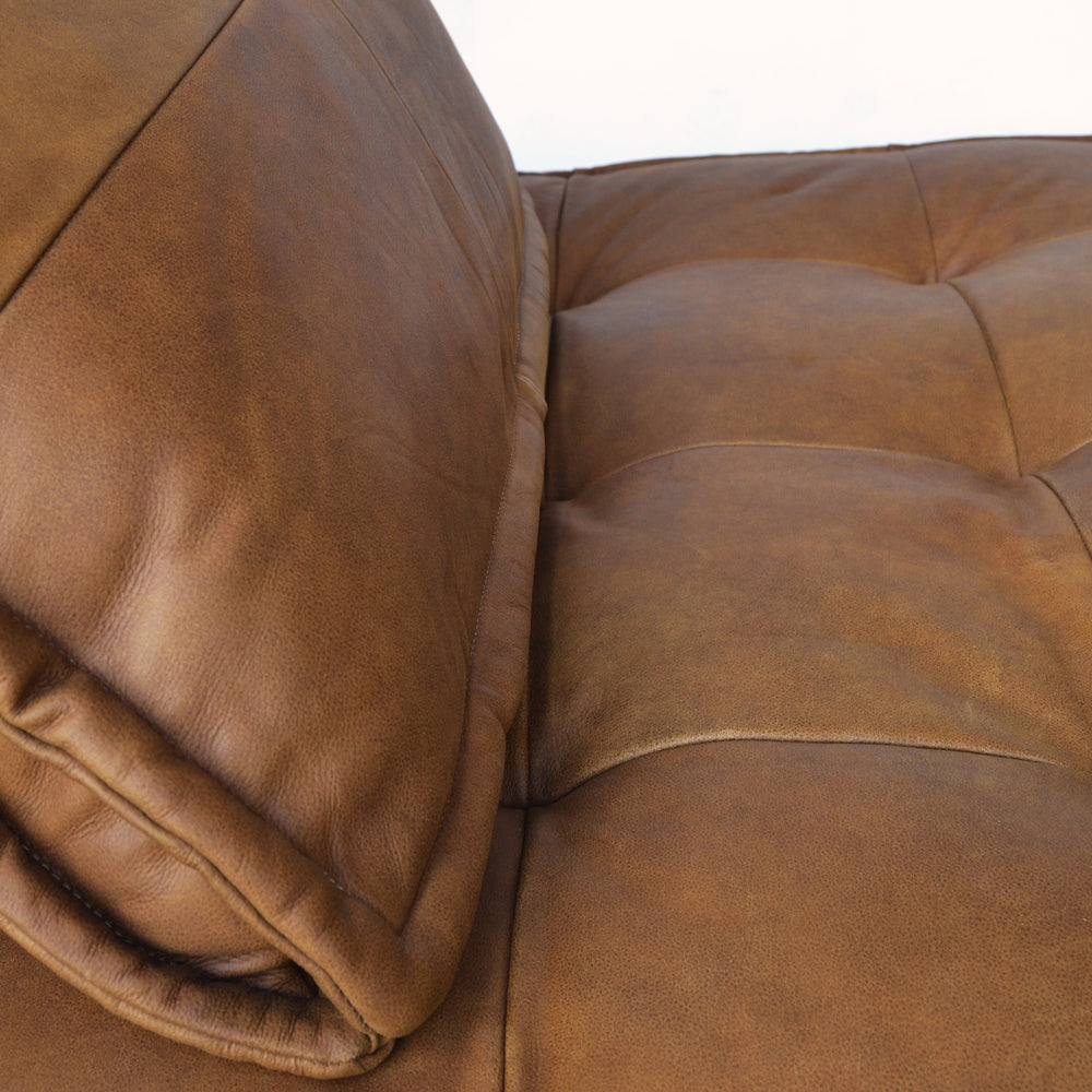 Zephyr Two Seat Lounger Cognac Leather
