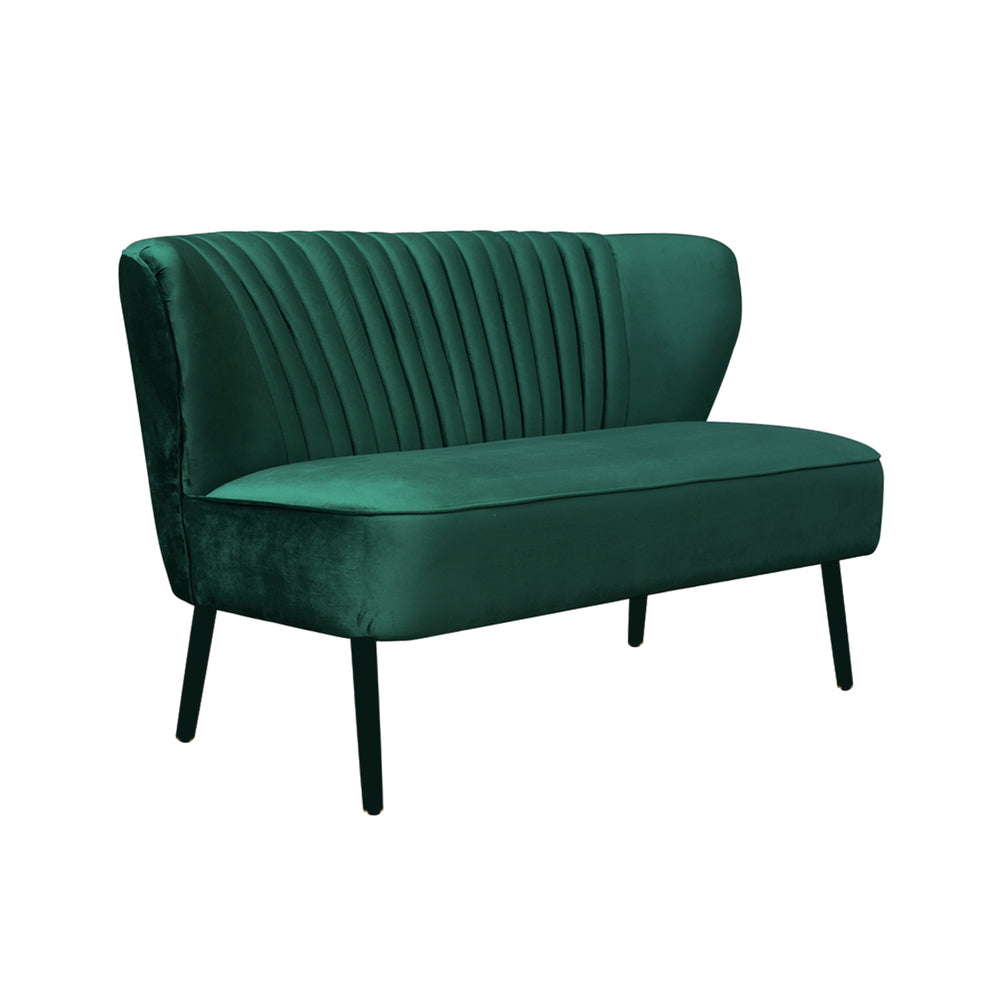 Coco Velvet Two Seater Sofa Ivy Green