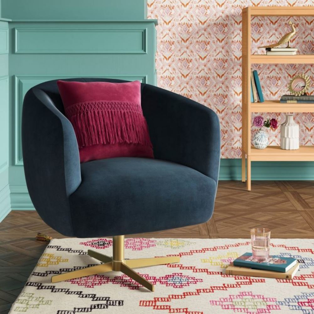 Liston Swivel Chair Navy
