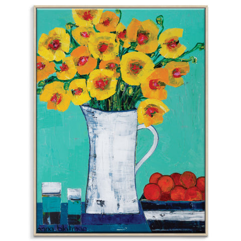Gale's Poppies Framed Canvas Print