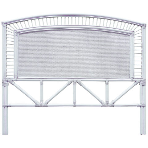 Plantation Queen Headboard White