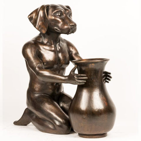 Flower Dog Limited Edition Bronze Sculpture