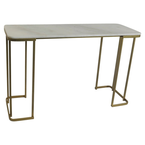 Antique Brass and Marble Console