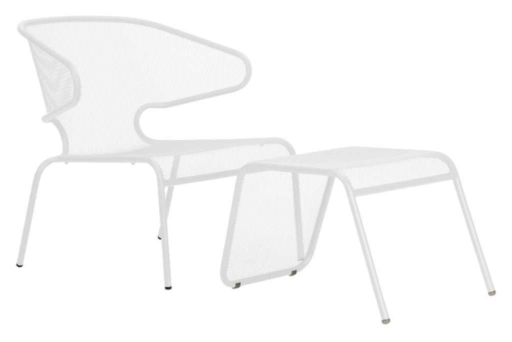 Malmo Outdoor Footstool White