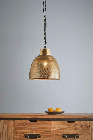 Factory Brass Pendant Small