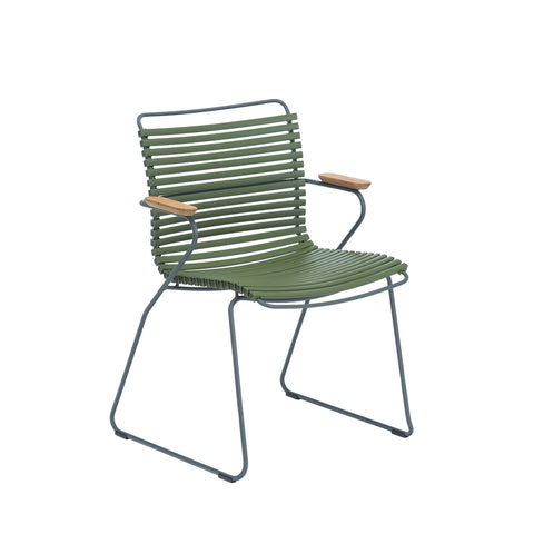 Click Position Outdoor Dining Chair Olive Green