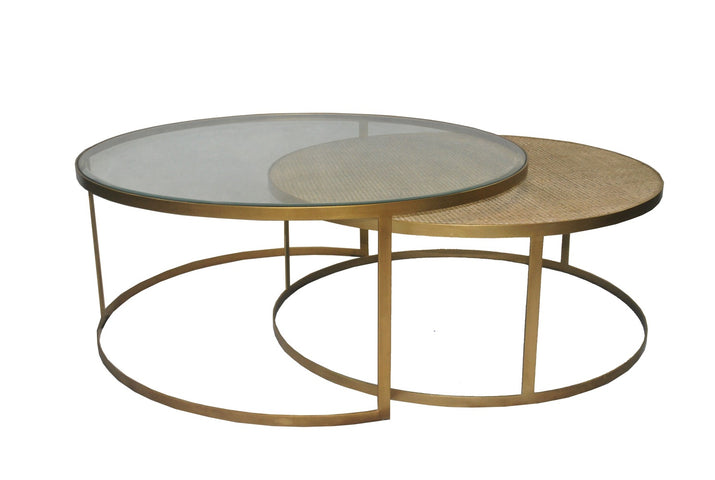 Trinidad Nesting Round Coffee Table Brass
