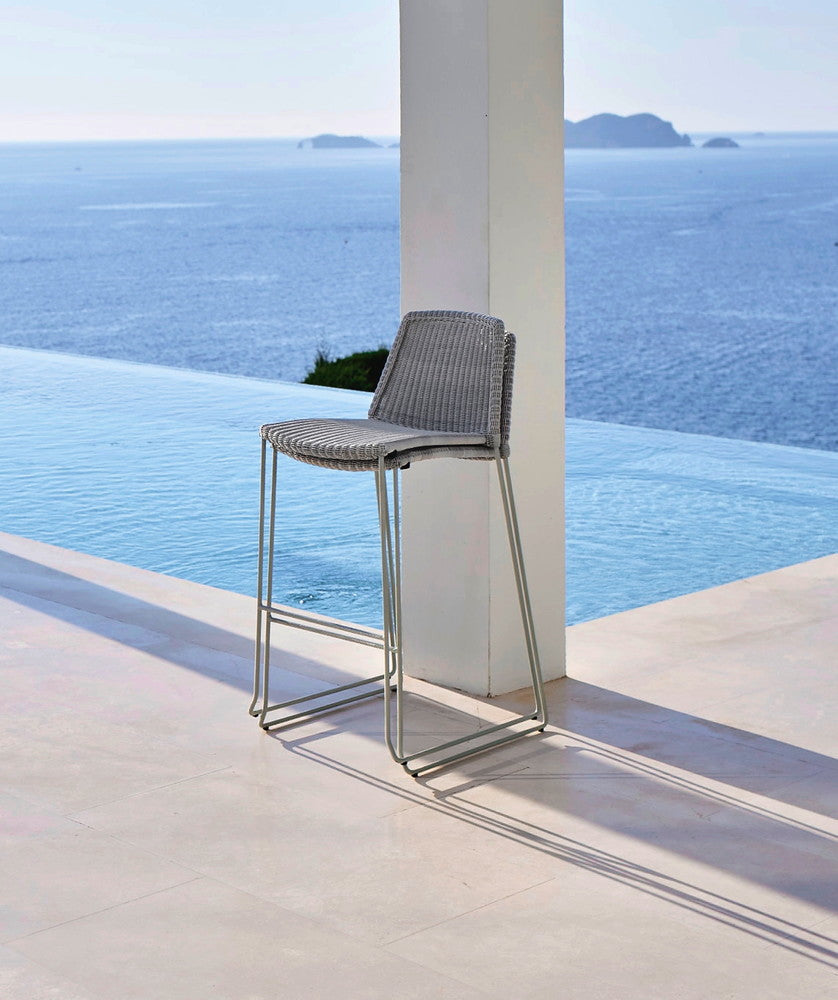 Breeze Stackable Bar Chair White Grey