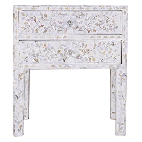 Amaranth Mother of Pearl Side Table