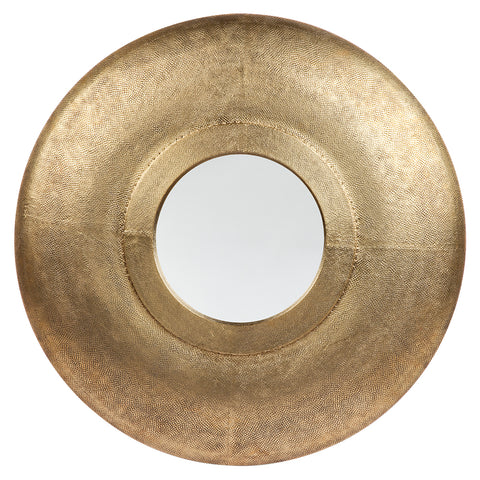 Shara Round Mirror Antique Brass