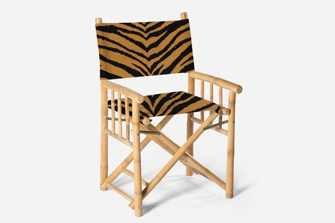 Martinez Directors Chair Palm Leaf Print