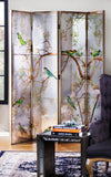 Exotic Bird Mirror Screen/Room Divider
