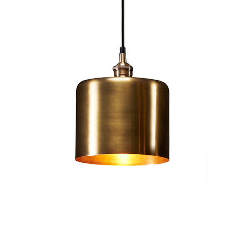 Lugano Pendant Antique Brass Medium