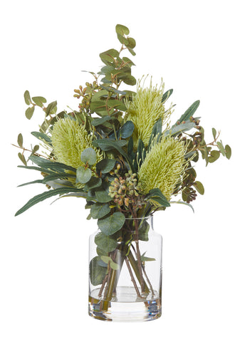 Native Mix in Pail Vase Green